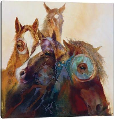 Indian Ponies Canvas Art Print