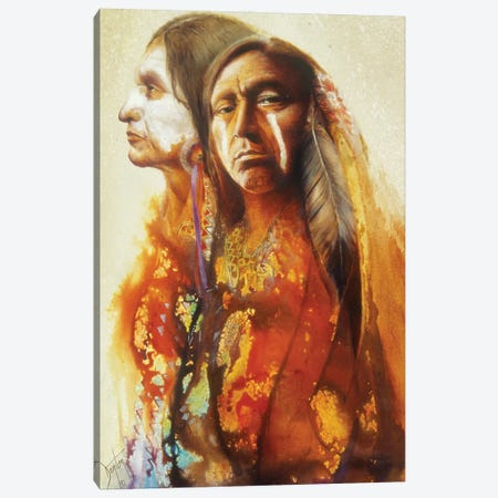 Portrait Of A Warrior Canvas Print #DNT76} by Denton Lund Canvas Art