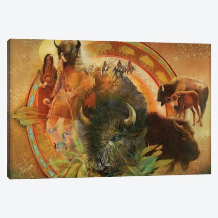 Spirit Of Tatanka Canvas Print #DNT96} by Denton Lund Canvas Wall Art