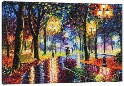 Romantic Walk Canvas Art Print