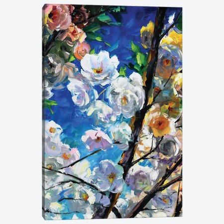 Blooming Cherry Canvas Print #DNW10} by Daniel Wall Canvas Art