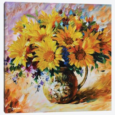 Sunflowers Canvas Print #DNW110} by Daniel Wall Canvas Artwork