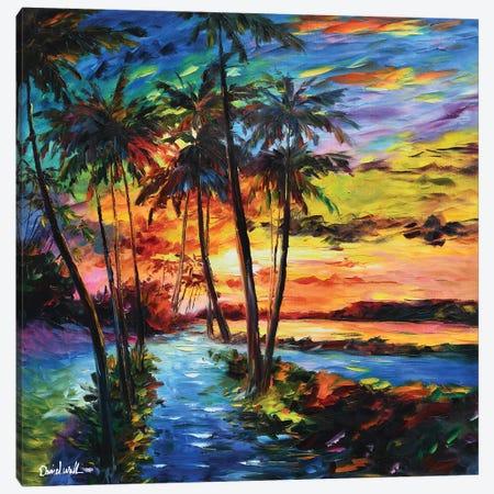 Sunset Canvas Print #DNW112} by Daniel Wall Canvas Artwork