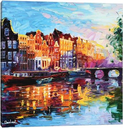 A Corner Of Amsterdam Canvas Art Print