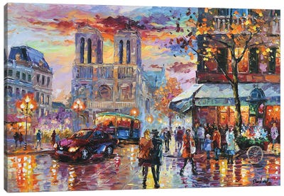 A Good Time In Notre Dame Canvas Art Print