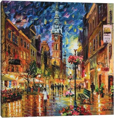 A Sweet Small Town Canvas Art Print