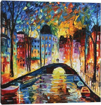 A Romantic Bridge For Love Canvas Art Print