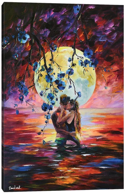 An Unexpected Kiss Canvas Art Print