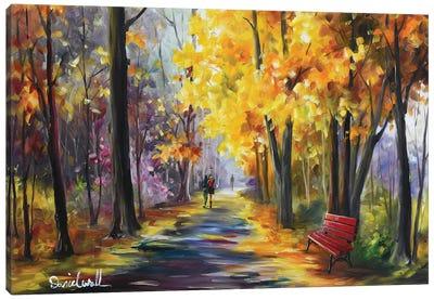 Autumn Yellow Canvas Art Print