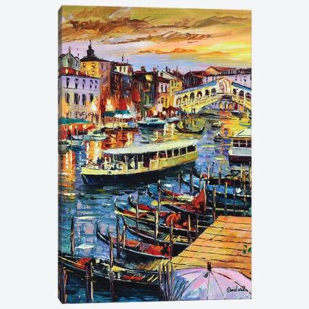 Busy Vegas Canal Canvas Print #DNW138} by Daniel Wall Canvas Artwork