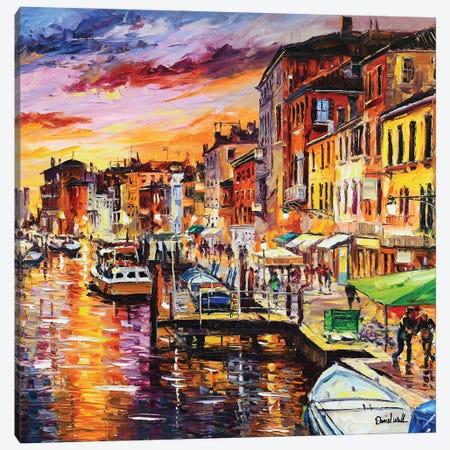 Sunny Venice Canvas Print #DNW161} by Daniel Wall Canvas Art Print