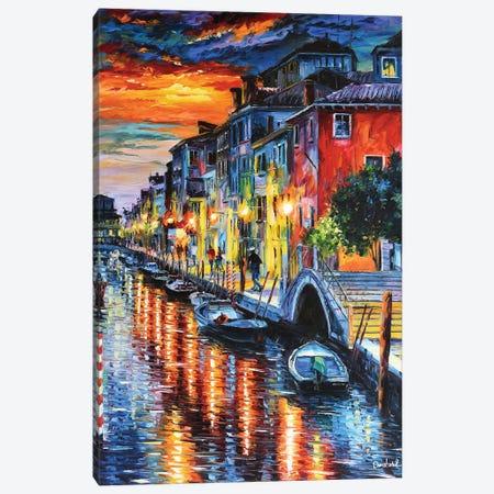 Superb Canal Canvas Print #DNW162} by Daniel Wall Art Print