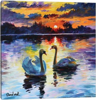 Beautiful Lake Sunset Canvas Art Print