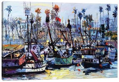 Fishing Harbor Canvas Art Print
