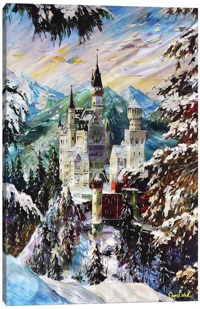 Snow Castle Canvas Art Print