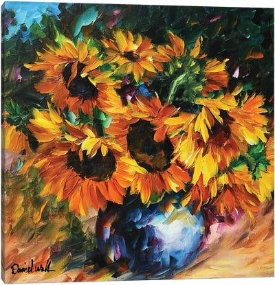 Sunflowers Bouquet Canvas Art Print
