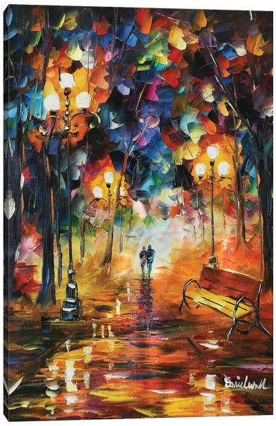 Walk At Night Canvas Art Print