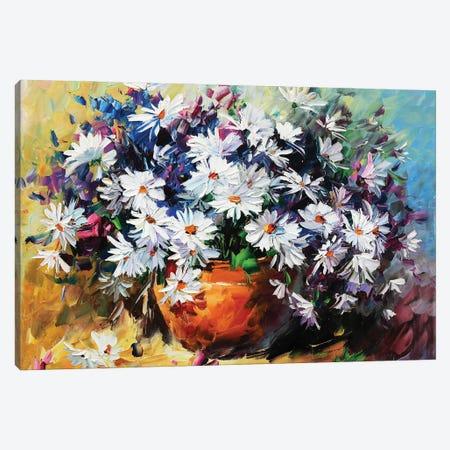 White Mums Canvas Print #DNW47} by Daniel Wall Canvas Artwork