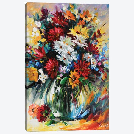 Beautiful Bouquet Canvas Print #DNW65} by Daniel Wall Canvas Artwork