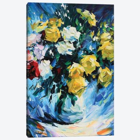 Bright Roses Canvas Print #DNW73} by Daniel Wall Canvas Artwork