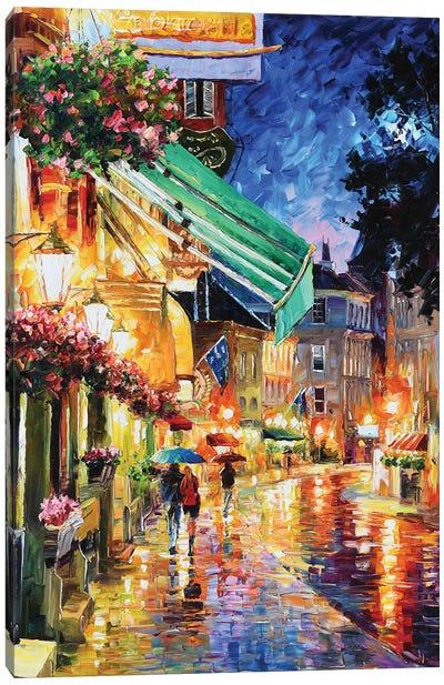 Athens Night Canvas Art Print