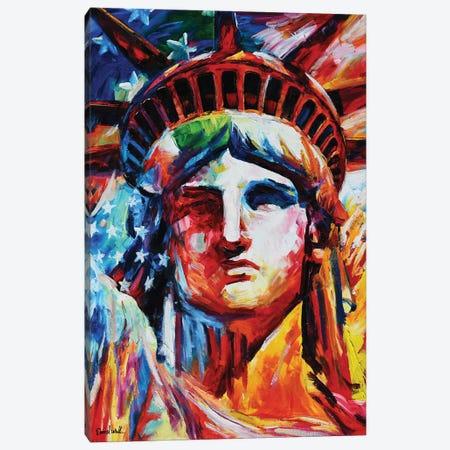 Liberty Statue Canvas Print #DNW86} by Daniel Wall Canvas Art