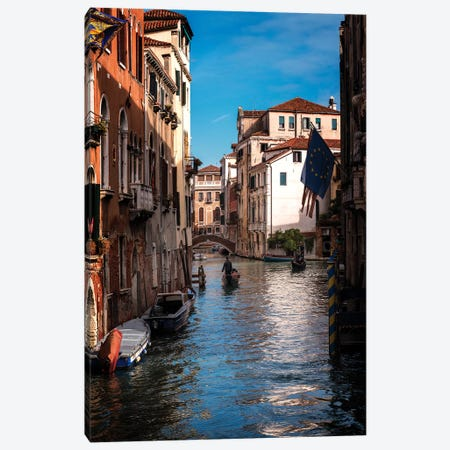 Passing Gondolas Canvas Print #DNY104} by Danny Head Canvas Art Print