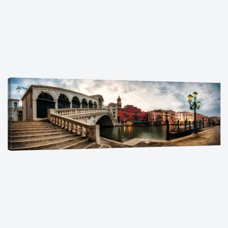 Rialto - Grand Canal Panorama Canvas Print #DNY105} by Danny Head Canvas Print