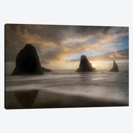 Sea Stack & Surf Canvas Print #DNY139} by Danny Head Canvas Print