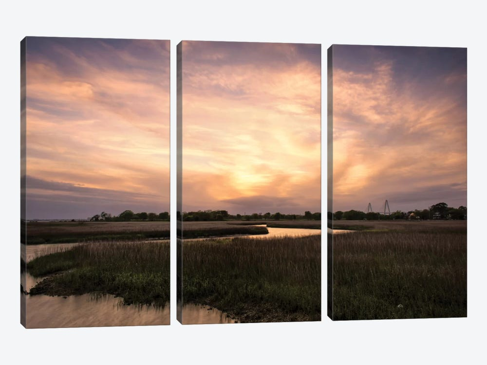 Low Country Sunset I by Danny Head 3-piece Canvas Artwork