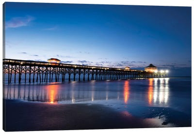 Pier Reflections I Canvas Art Print