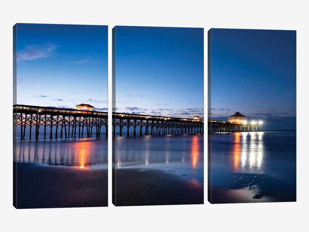 Pier Reflections I by Danny Head 3-piece Canvas Wall Art
