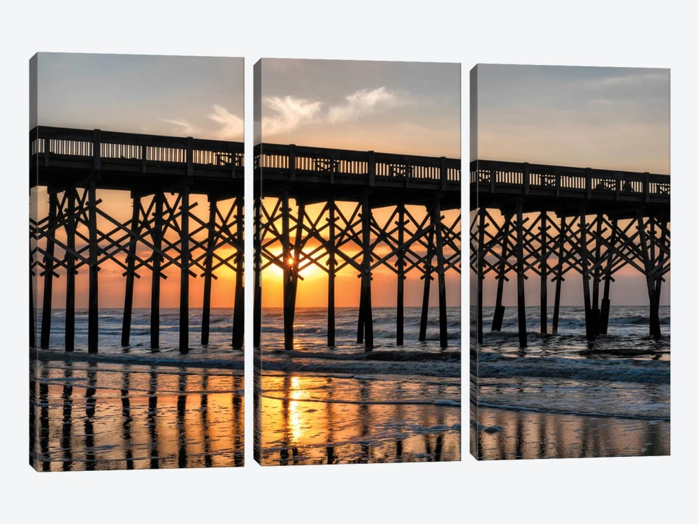 Pier Reflections II by Danny Head 3-piece Canvas Print