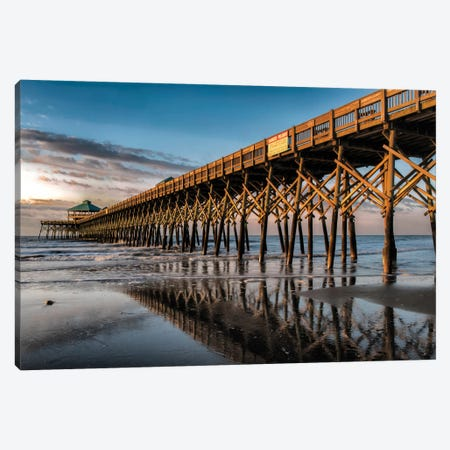 Sun Bath On Folly Beach Canvas Print #DNY26} by Danny Head Canvas Art