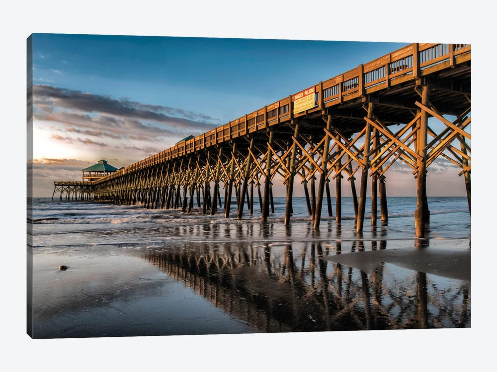 Sun Bath On Folly Beach by Danny Head 1-piece Art Print