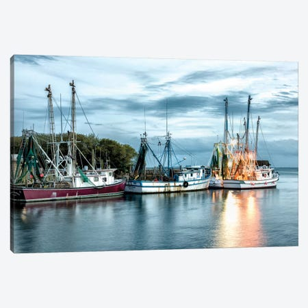 The Shrimping Fleet Canvas Print #DNY28} by Danny Head Canvas Print
