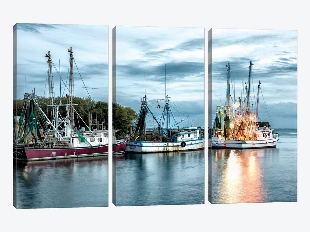 The Shrimping Fleet by Danny Head 3-piece Canvas Art Print