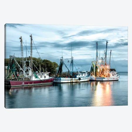 The Shrimping Fleet Canvas Print #DNY28} by Danny Head Canvas Print