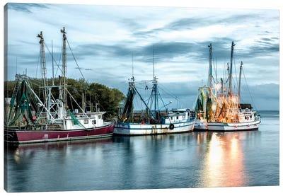 The Shrimping Fleet Canvas Art Print