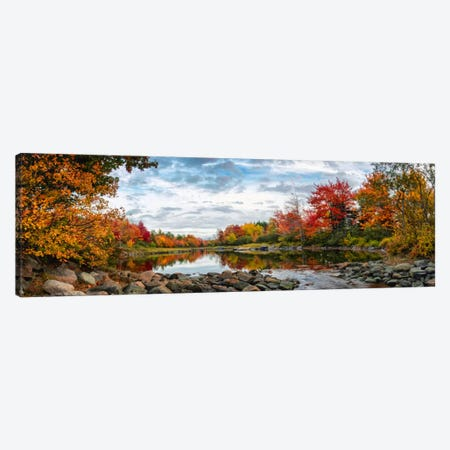 Northeast Creek Panorama Canvas Print #DNY49} by Danny Head Art Print
