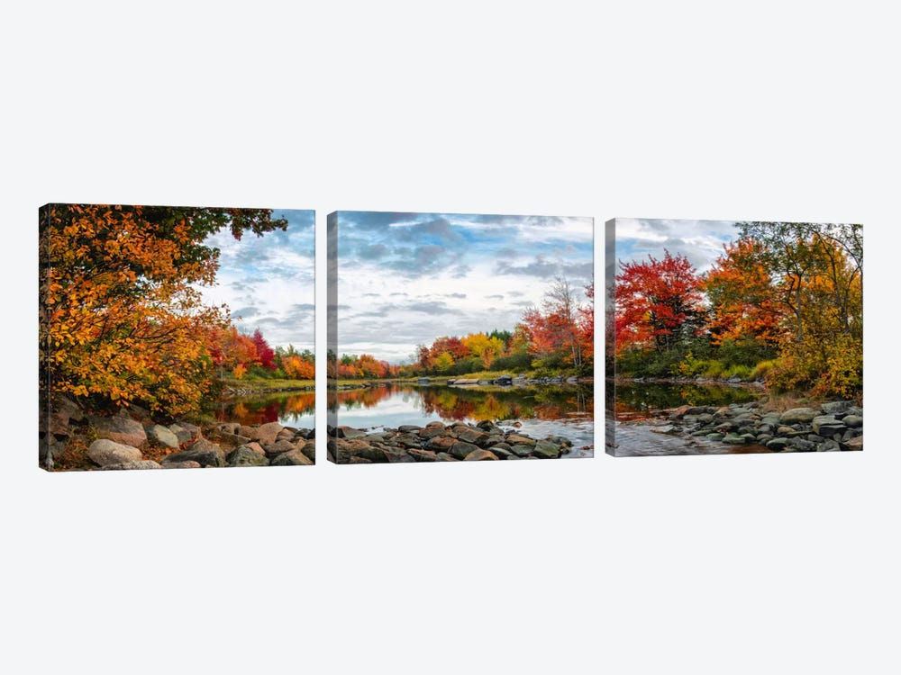 Northeast Creek Panorama by Danny Head 3-piece Canvas Art