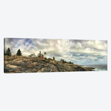 Pemaquid Light Panorama Canvas Print #DNY50} by Danny Head Canvas Art