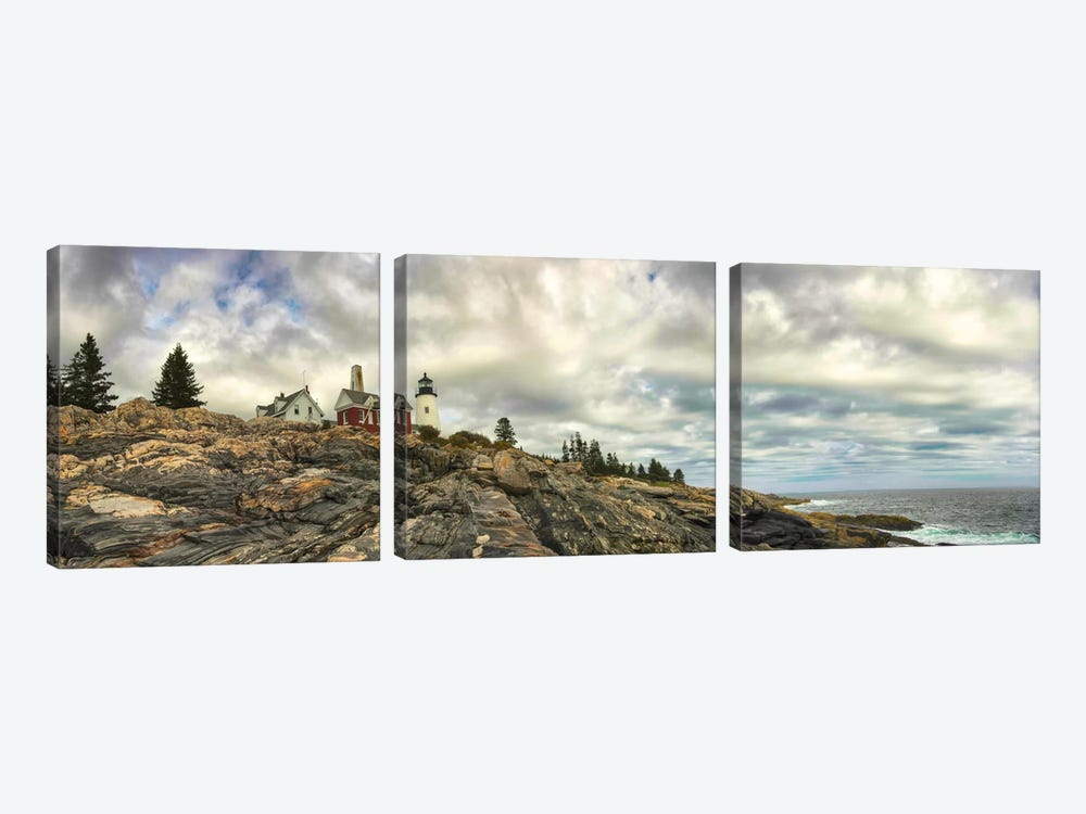 Pemaquid Light Panorama by Danny Head 3-piece Canvas Artwork