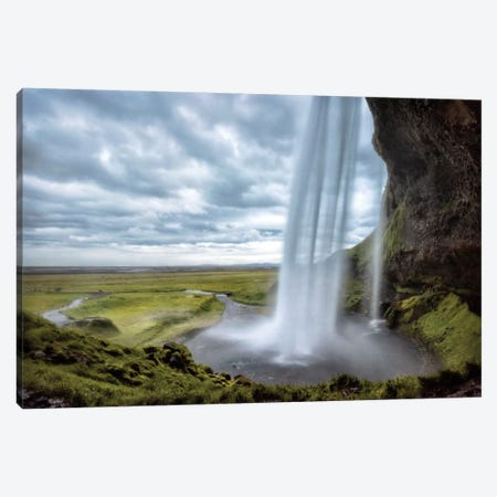 Behind Seljalandsfoss Canvas Print #DNY55} by Danny Head Canvas Art Print
