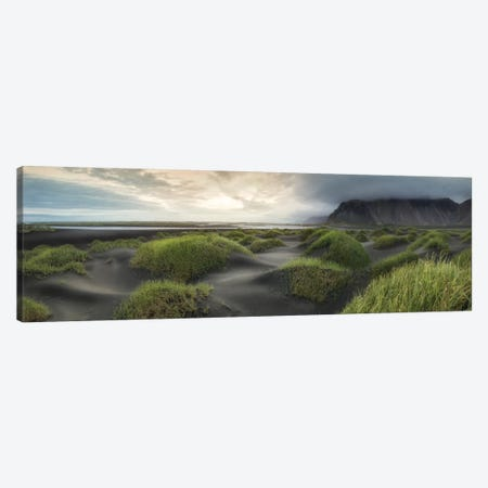 Black Dunes Panorama Canvas Print #DNY57} by Danny Head Art Print