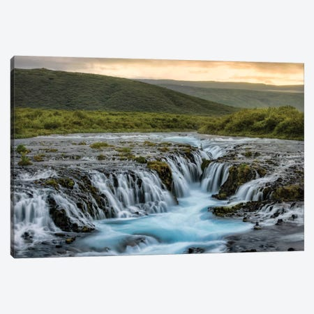 Evening At Bruarfoss Canvas Print #DNY62} by Danny Head Art Print