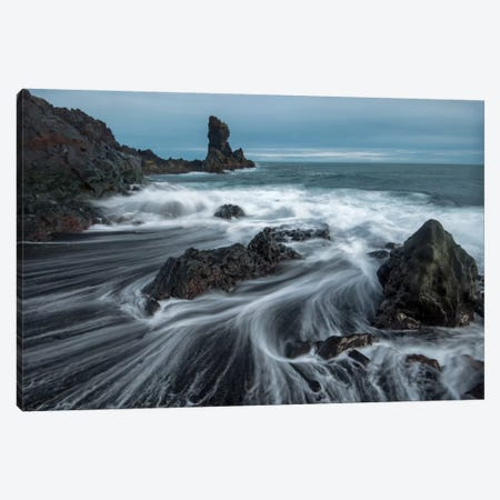 Water Ribbons Canvas Print #DNY76} by Danny Head Canvas Print