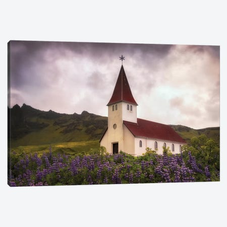 White Church Canvas Print #DNY77} by Danny Head Canvas Art Print