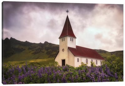 White Church Canvas Art Print