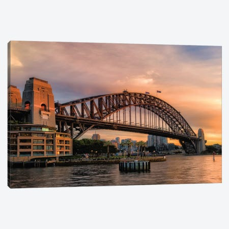 Harbor Bridge Canvas Print #DNY86} by Danny Head Canvas Wall Art